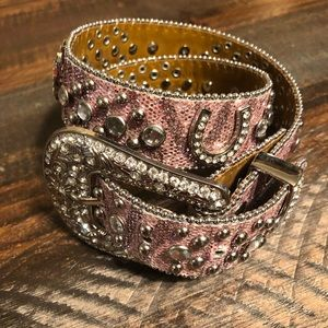 """Other - Girls pink blingy belt. 24"""""""